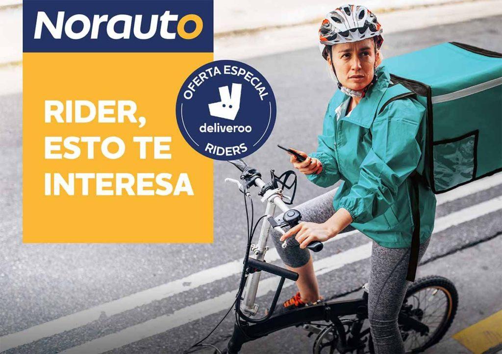 Foto de Norauto se une a Deliveroo para fomentar la movilidad