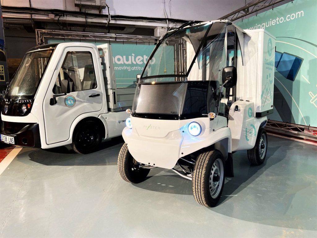 Foto de Vehículos eléctricos de última milla Tropos (izda) y