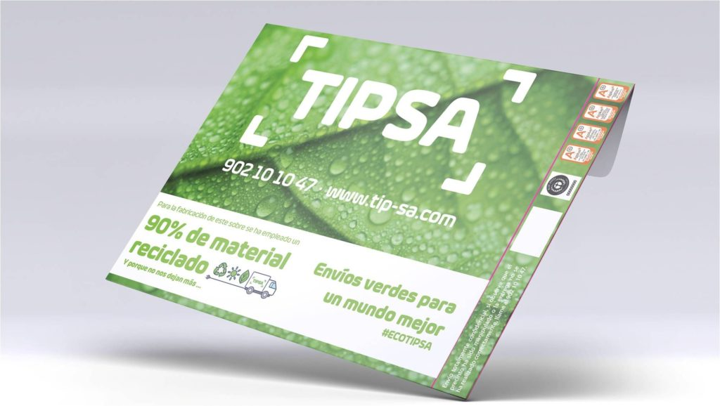 Foto de nuevos sobres TIPSA
